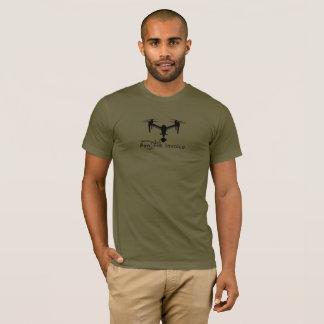 Camiseta A mantra DJI do Freelancer do zangão inspira
