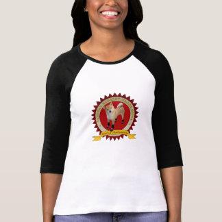 Camiseta A marca do Barkley das mulheres carreg 3/4 de