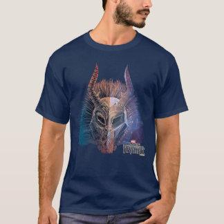 Camiseta A máscara tribal preta da pantera | cobriu a arte