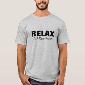 Camiseta A massagem relaxa (customizável)
