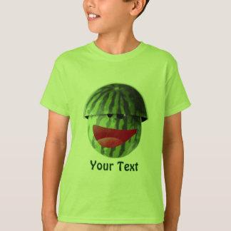 Camiseta A melancia de sorriso engraçada caçoa o t-shirt do