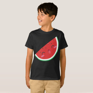 Camiseta A melancia verde vermelha extremamente feliz caçoa