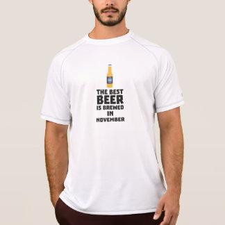 Camiseta A melhor cerveja é em novembro Zk446 fabricado