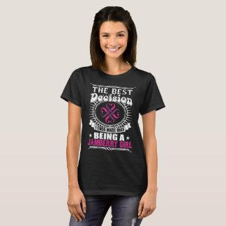 Camiseta A melhor decisão que é um Tshirt da menina de