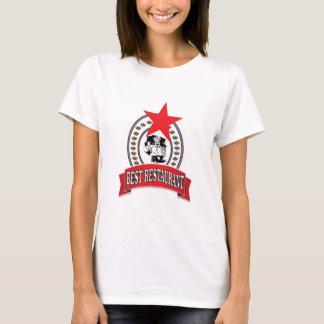 Camiseta a melhor estrela vermelha do restaurante