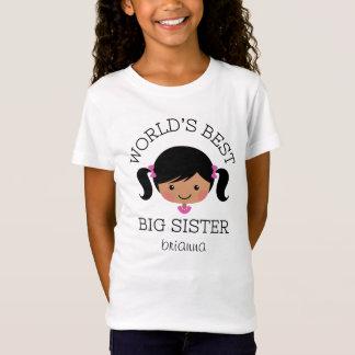 Camiseta A melhor irmã mais velha dos mundos personalizada