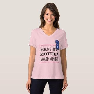 Camiseta A melhor mãe do mundo com fita azul