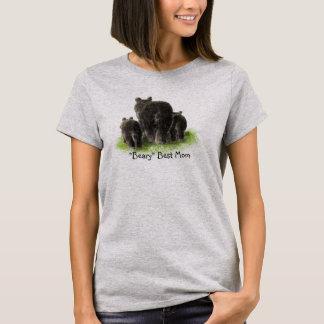 Camiseta A melhor mamã de Beary, família do urso preto da