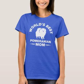 Camiseta a melhor mamã pomeranian do mundo