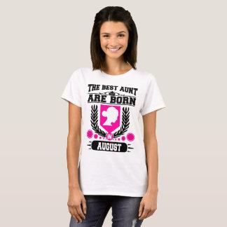 Camiseta a melhor tia é nascida em agosto