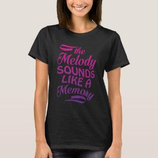 Camiseta A melodia soa como um t-shirt da música da memória