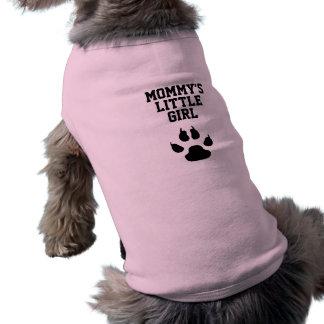 Camiseta A menina da mamã engraçada do cão