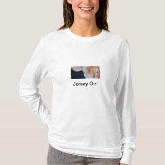 Camiseta A menina do jérsei por Janet significa Belich,
