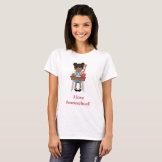 Camiseta A menina doce diz o homeschool do amor de I