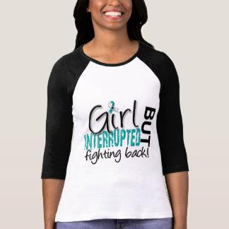Camiseta A menina interrompeu o cancro do colo do útero 2