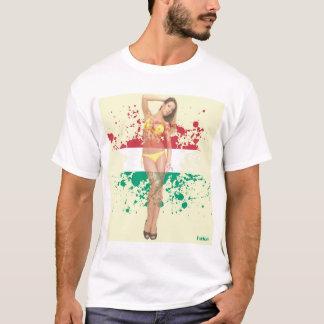 """Camiseta A menina """"sexy"""" do PinUp dissolve-se na bandeira -"""