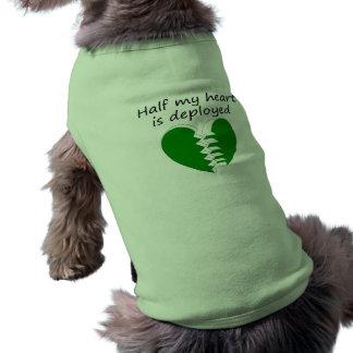 Camiseta A metade do meu coração é distribuída