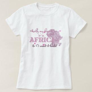 Camiseta A metade do meu coração está em África