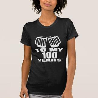 Camiseta A meus 100 anos do aniversário