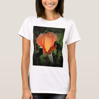 Camiseta A miçanga da água na laranja aumentou