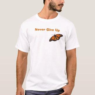 Camiseta a monarca-borboleta nunca dá acima