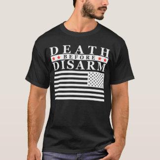 Camiseta A morte antes desarma - letras grandes