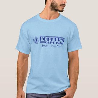 Camiseta A movimentação do funil no azul