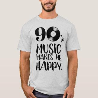 Camiseta a música 90s faz-me a nostalgia feliz