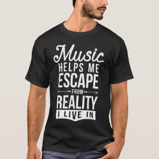 Camiseta a música ajuda-me