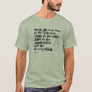 Camiseta A música dá uma alma