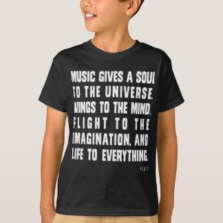 Camiseta A música dá uma alma ao universo