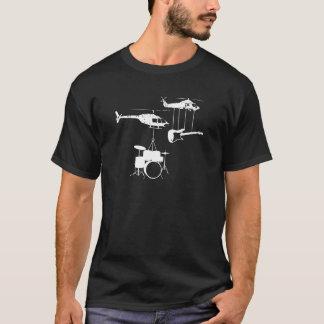 Camiseta A música de Cary do helicóptero utiliza