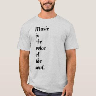 Camiseta A música é a voz da alma
