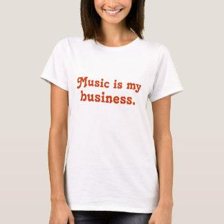 Camiseta A música é meu negócio