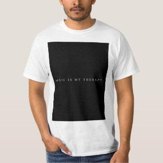 Camiseta A música é meu t-shirt da terapia (branco)