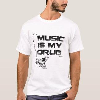 Camiseta A música é minha droga