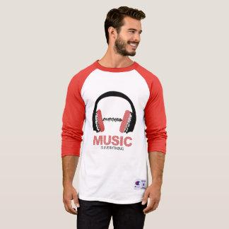 Camiseta A música é tudo