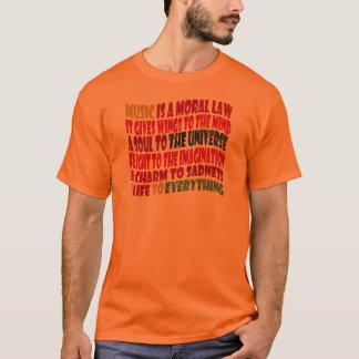 Camiseta A música é uma lei moral