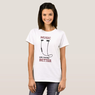 Camiseta A música faz tudo melhor