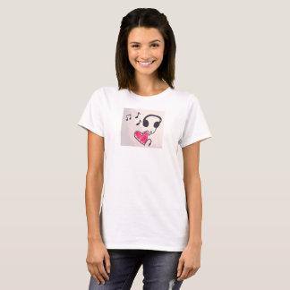 Camiseta A música legal é t-shirt do Doodle do amor