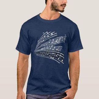 Camiseta A música nota símbolos da notação musical do ~