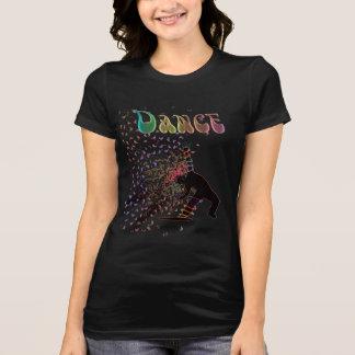 Camiseta A música psicadélico da mania da dança nota o