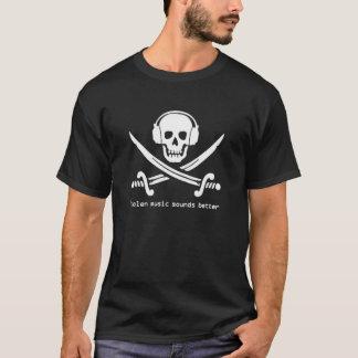 Camiseta A música roubada soa melhor - a versão PRETA