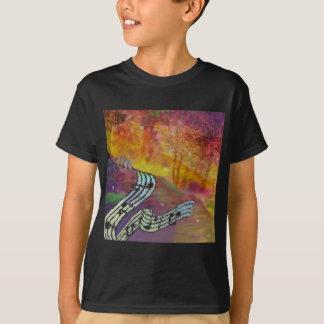 Camiseta A música tem a conexão estranha à natureza