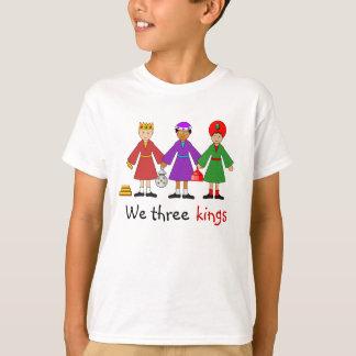 Camiseta A natividade das crianças -- Nós três reis