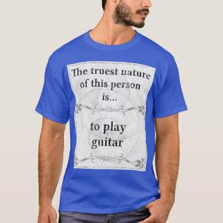 Camiseta A natureza a mais verdadeira: guitarrista da