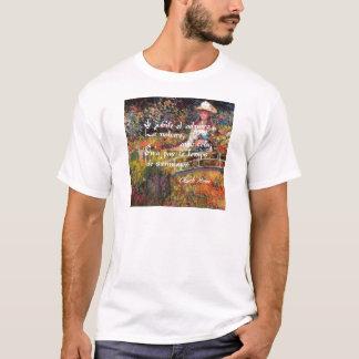 Camiseta A natureza no art. de Monet