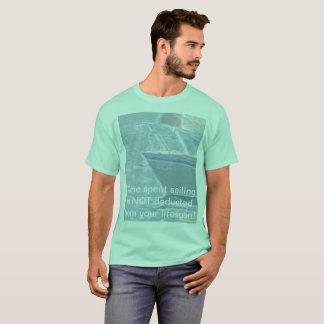 Camiseta A navigação gastada tempo não é deduzida!