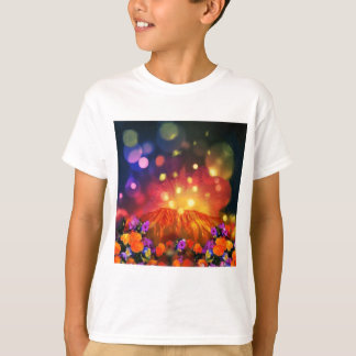 Camiseta A noite é cheio da cor que aprecia a vida