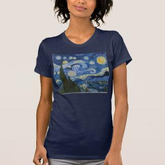 Camiseta A noite estrelado de Vincent van Gogh